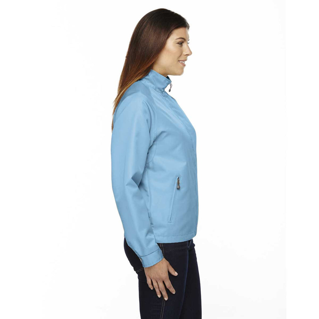 North End Women's' Blue Drop Mid-Length Micro Twill Jacket