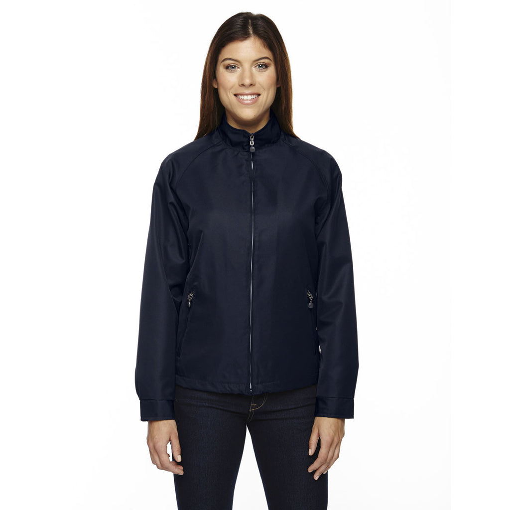 North End Women's' Midnight Navy Mid-Length Micro Twill Jacket