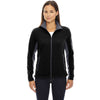 North End Women's' Black Microfleece Jacket