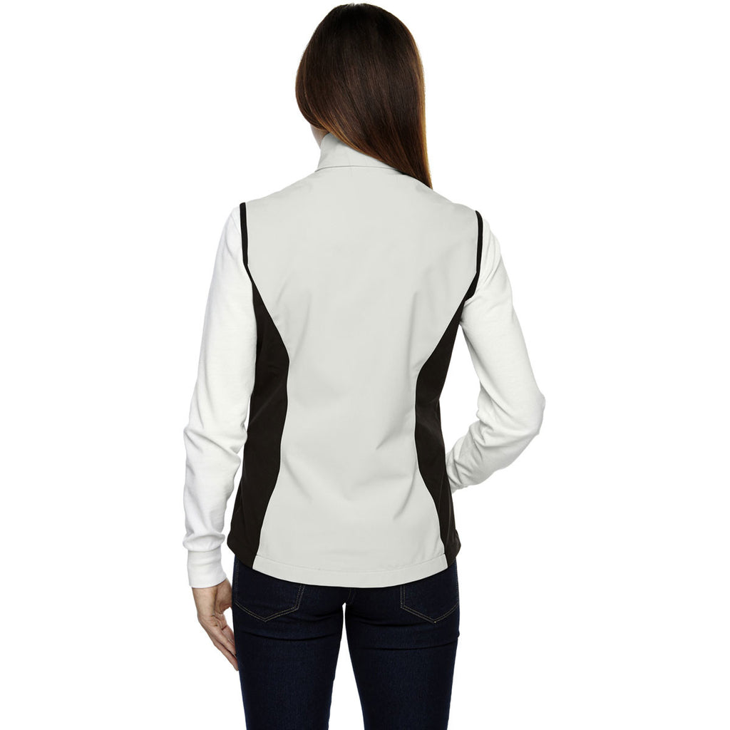 North End Women's' Natural Stone Three-Layer Light Bonded Performance Soft Shell Vest