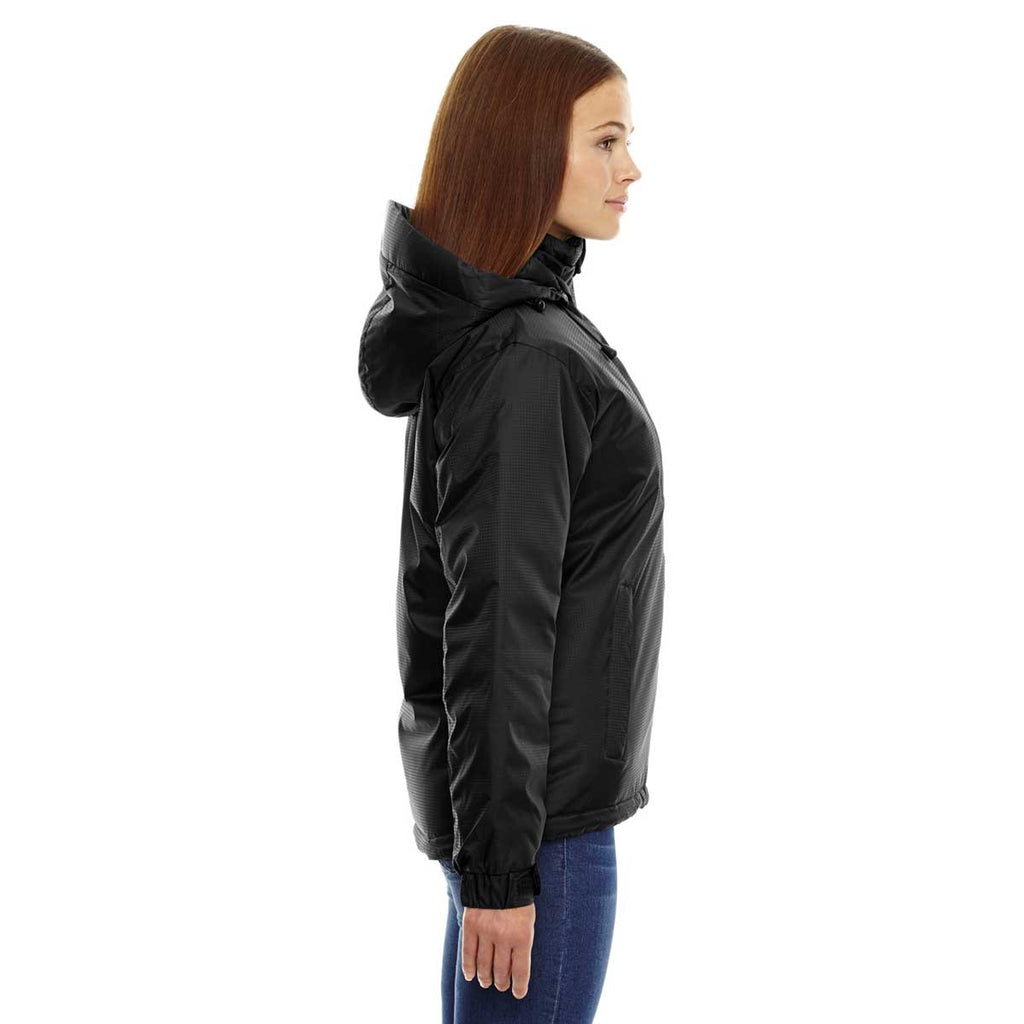 North End Women's' Black Insulated Jacket