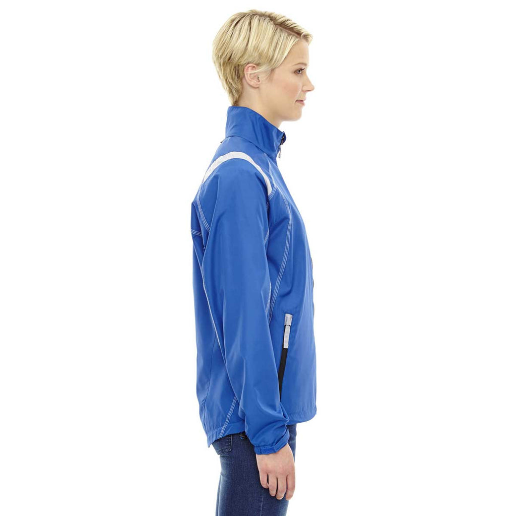 North End Women's Nautical Blue Endurance Lightweight Colorblock Jacket