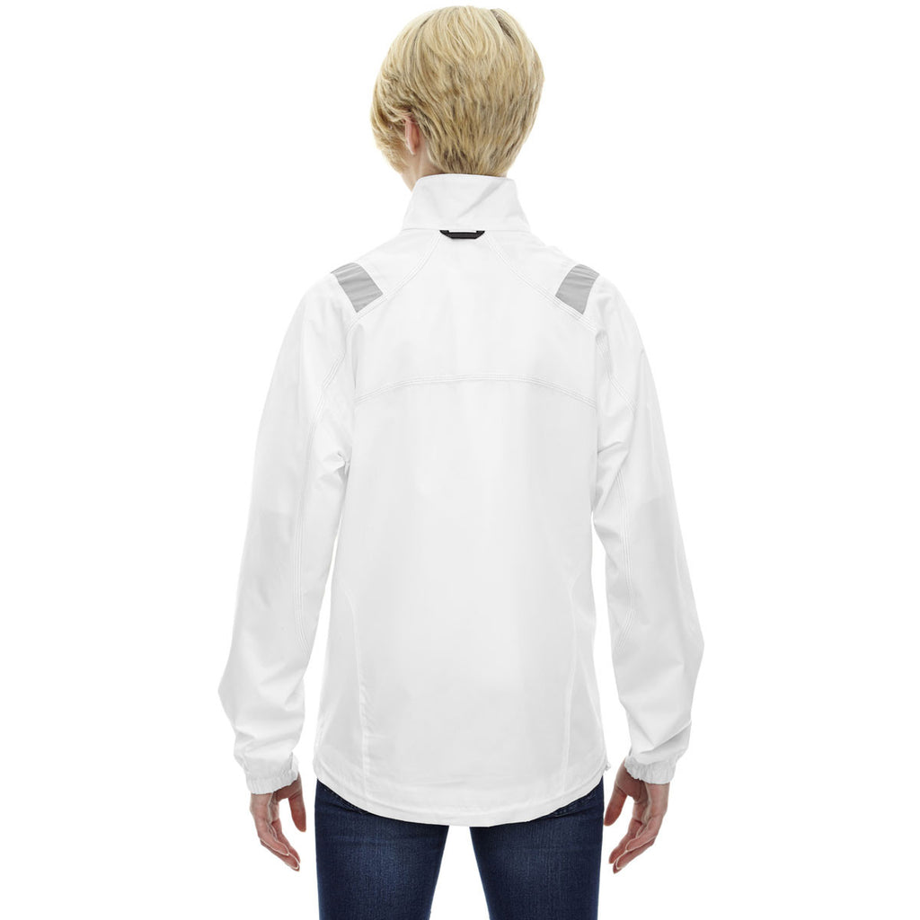 North End Women's White Endurance Lightweight Colorblock Jacket