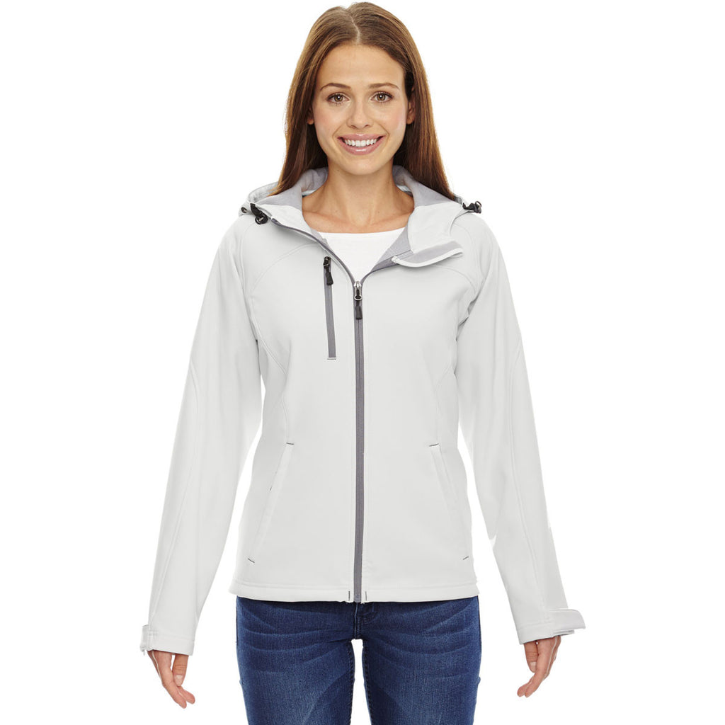North End Women's Crystal Quartz Prospect Two-Layer Fleece Bonded Soft Shell Hooded Jacket