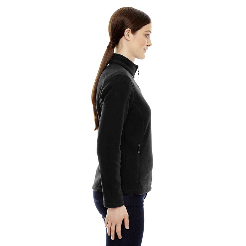 North End Women's Black Voyage Fleece Jacket