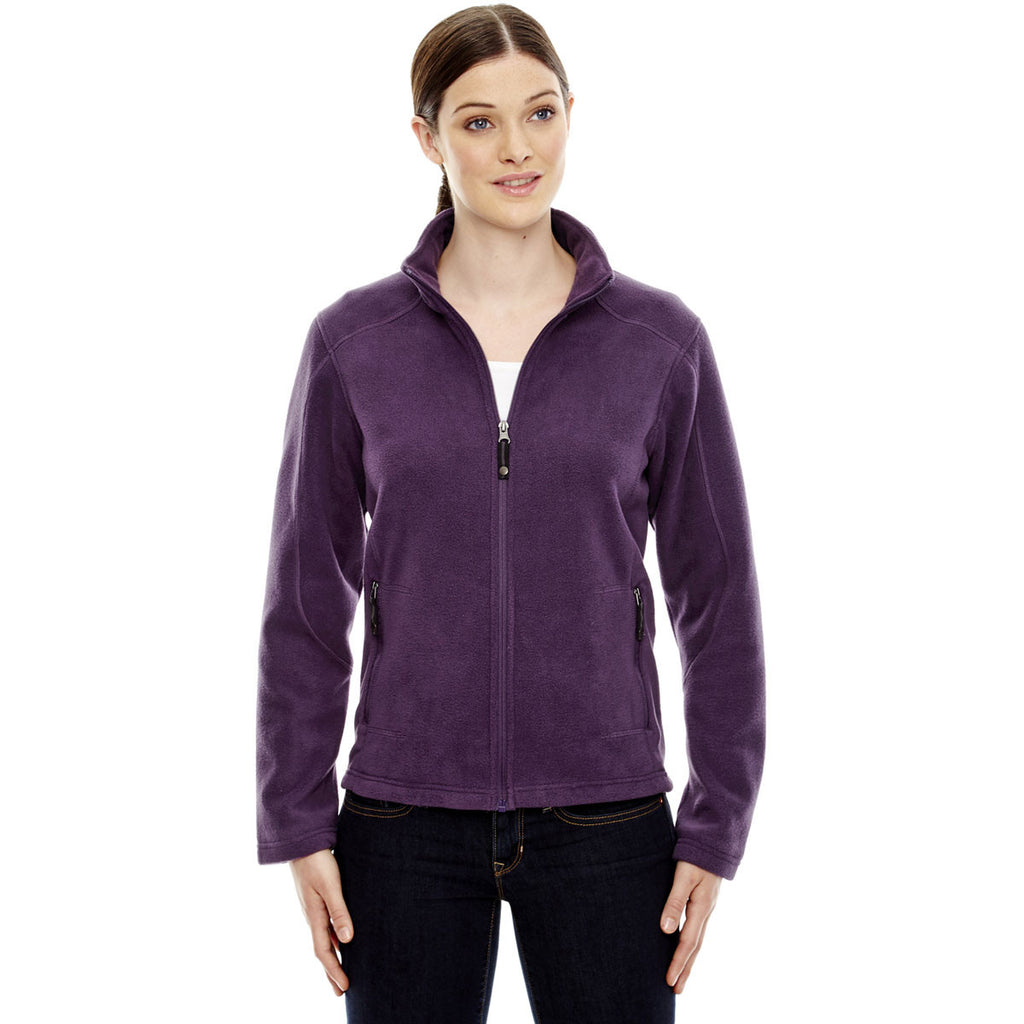 North End Women's Mulberry Purple Voyage Fleece Jacket