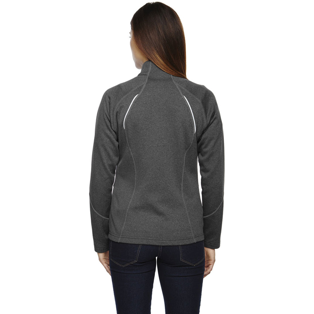 North End Women's Carbon Heather Gravity Performance Fleece Jacket