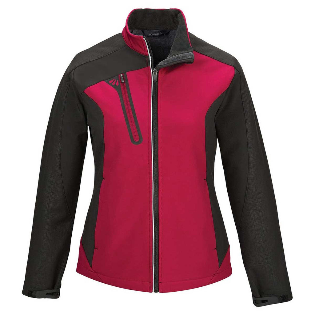 19a974891ec6 North End Women s Classic Red Terrain Colorblock Soft Shell with Embossed  Print. ADD YOUR LOGO