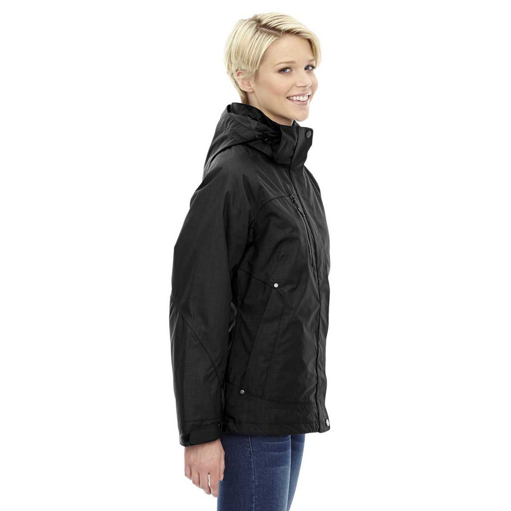 North End Women's Black Caprice 3-In-1 Jacket with Soft Shell Liner