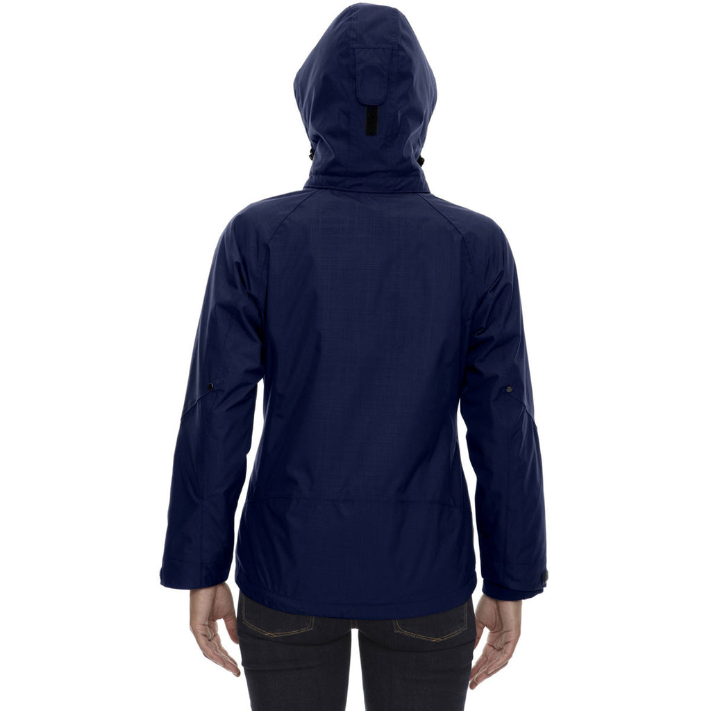 North End Women's Classic Navy Caprice 3-In-1 Jacket with Soft Shell Liner