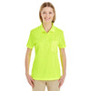 Core 365 Women's Safety Yellow Origin Performance Pique Polo with Pocket