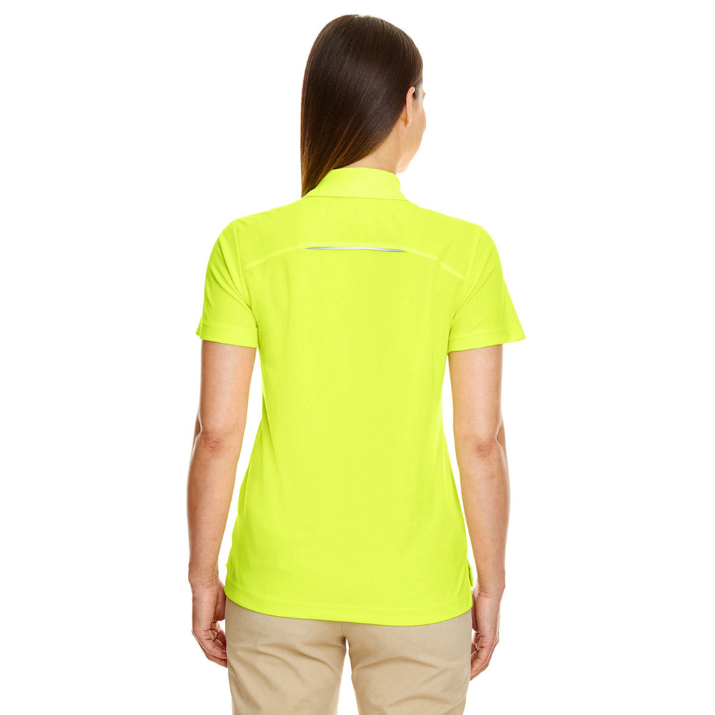 CORE365 Women's Safety Yellow Radiant Performance Pique Polo