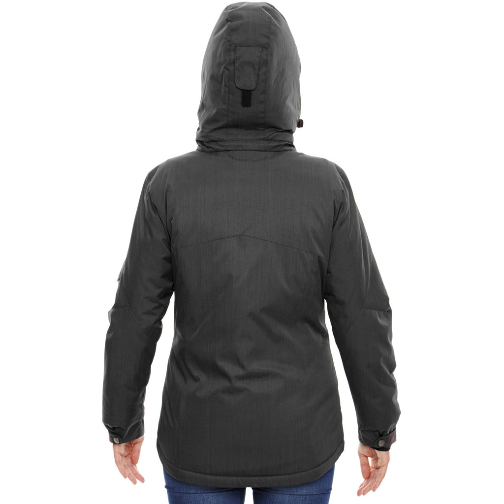 North End Women's Carbon Rivet Textured Twill Insulated Jacket