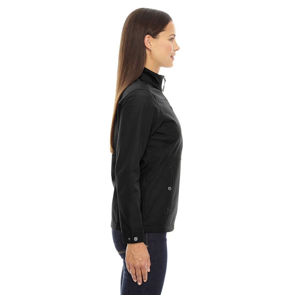 North End Women's Black Forecast Three-Layer Light Bonded Travel Jacket