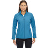 North End Women's Blue Ash Forecast Three-Layer Light Bonded Travel Jacket