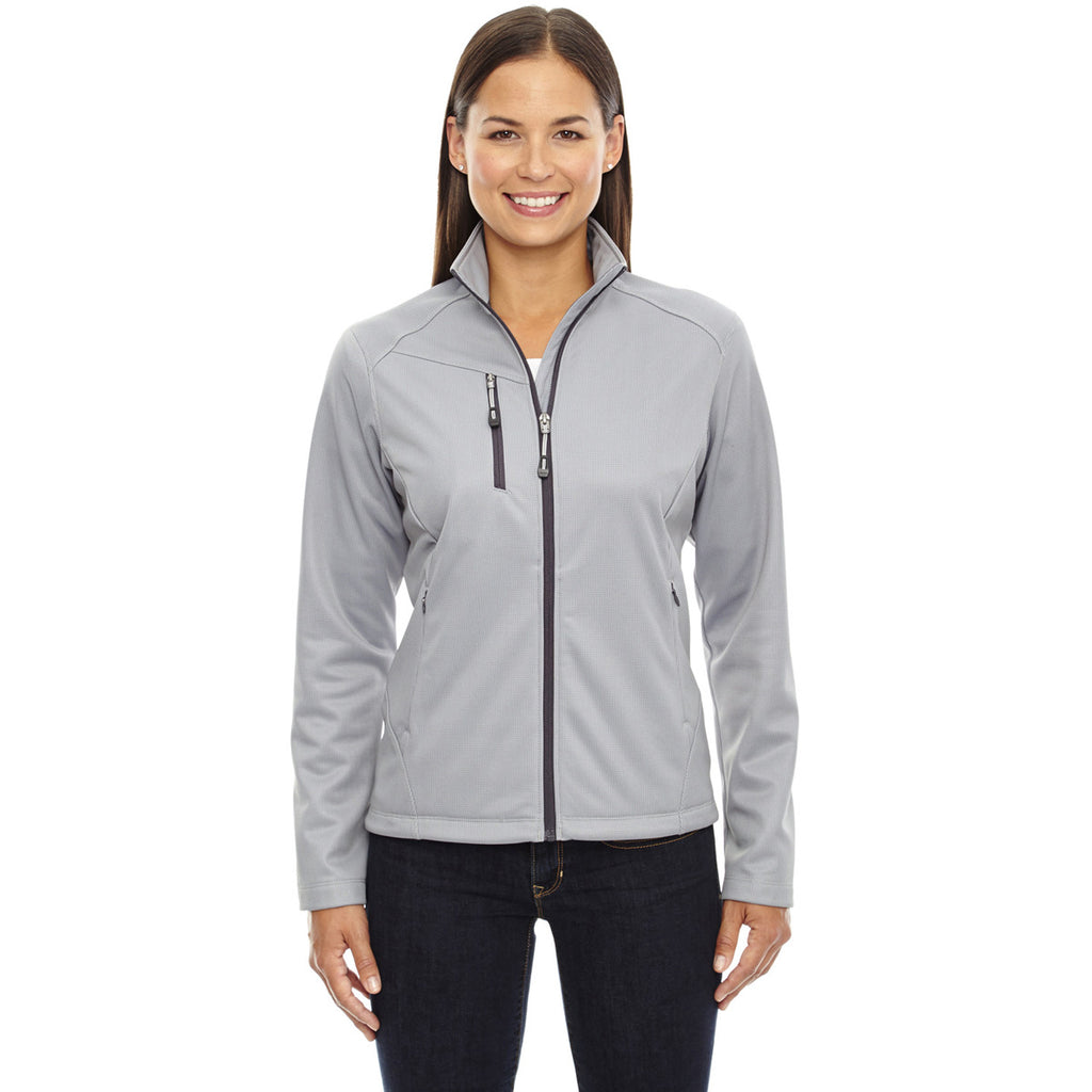 North End Women's Platinum Trace Printed Fleece Jacket