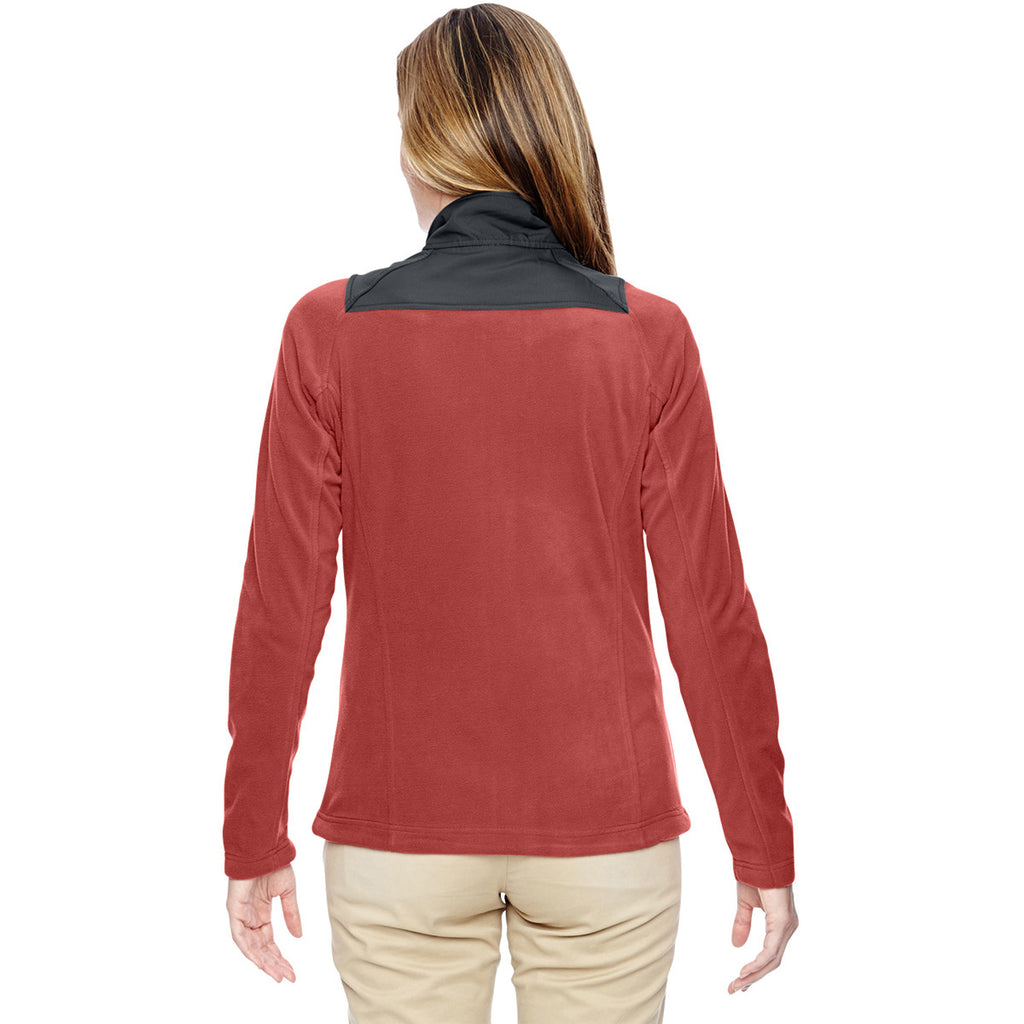 North End Women's Rust Excursion Trail Fabric-Block Jacket