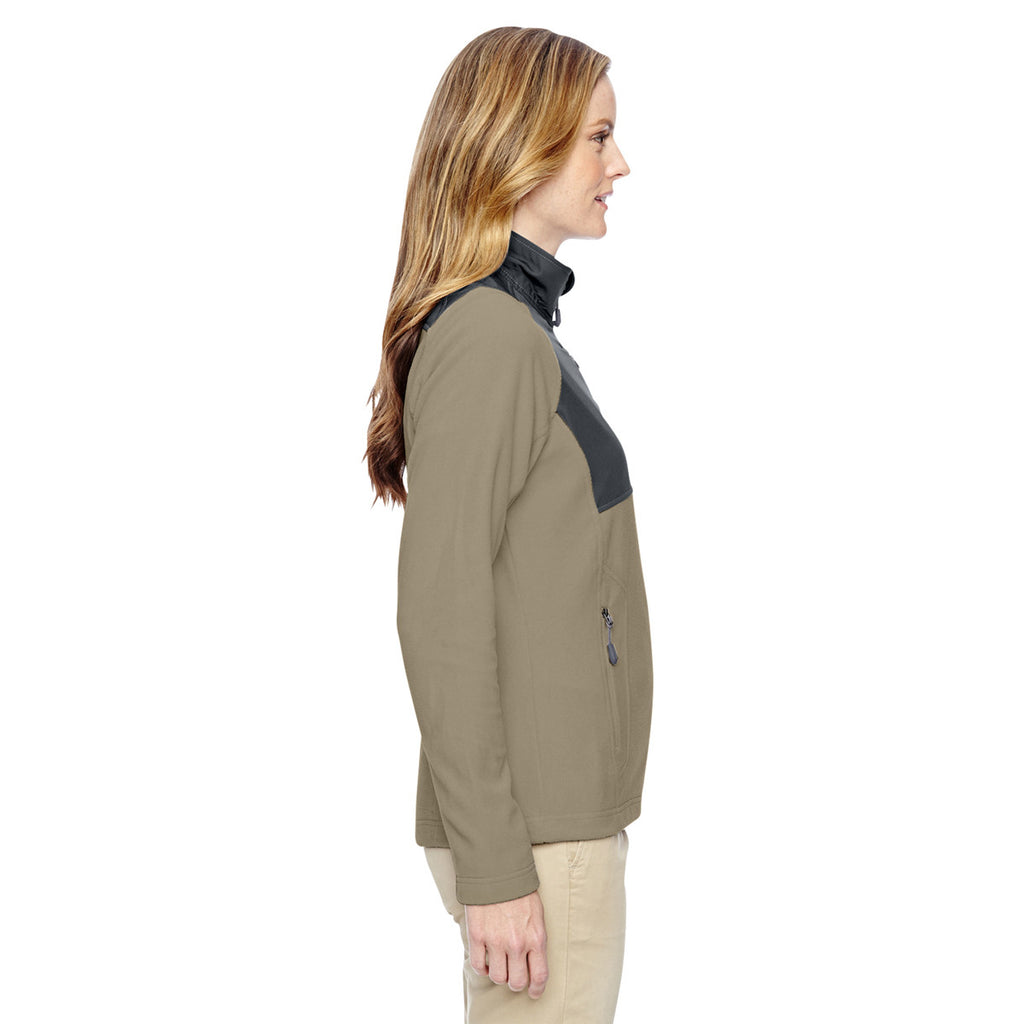 North End Women's Stone Excursion Trail Fabric-Block Jacket