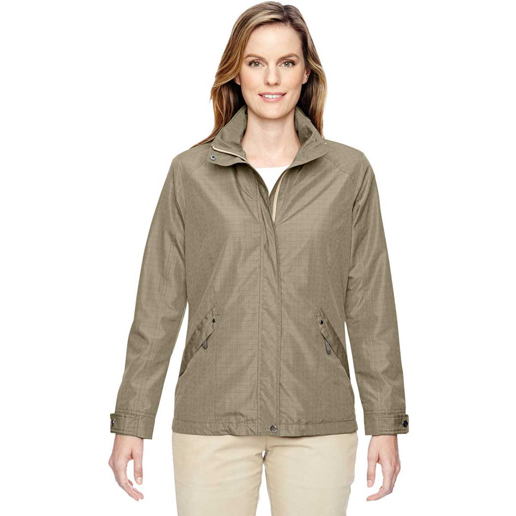 North End Women's Stone Excursion Transcon Lightweight Jacket with Pattern