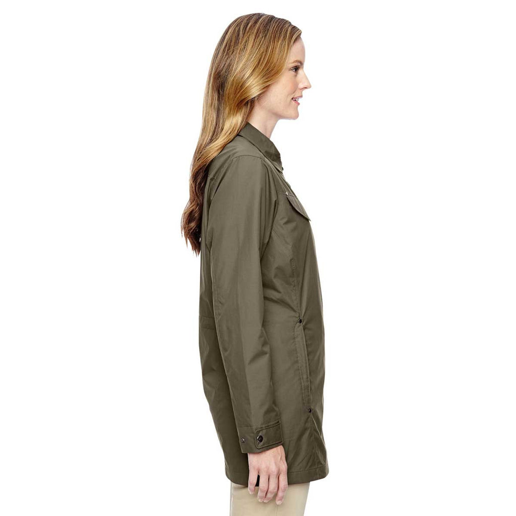 North End Women's Dark Oakmoss Excursion Jacket with Fold Down Collar