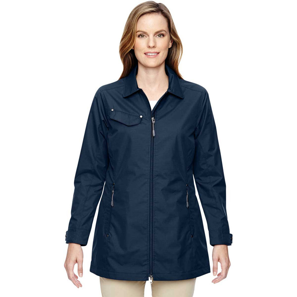 North End Women's Navy Excursion Jacket with Fold Down Collar