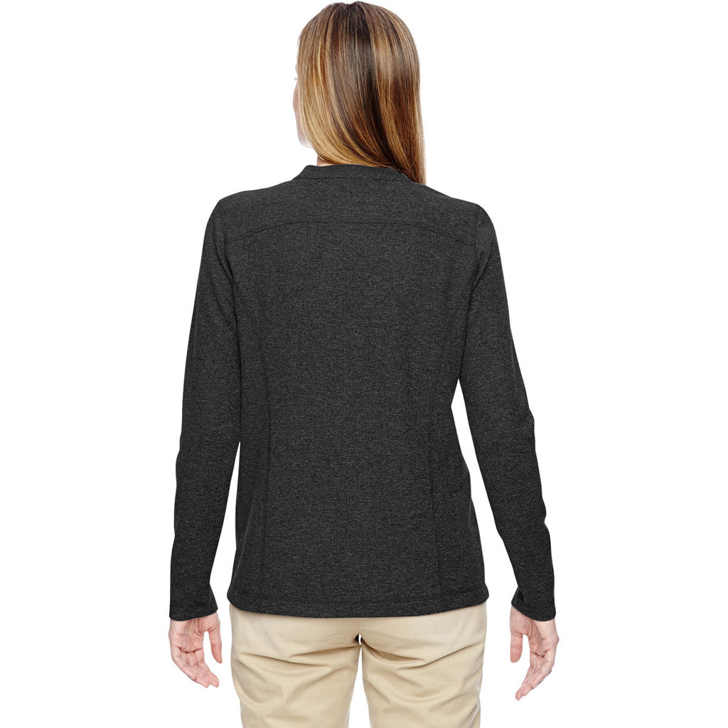 North End Women's Black Excursion Nomad Performance Waffle Henley