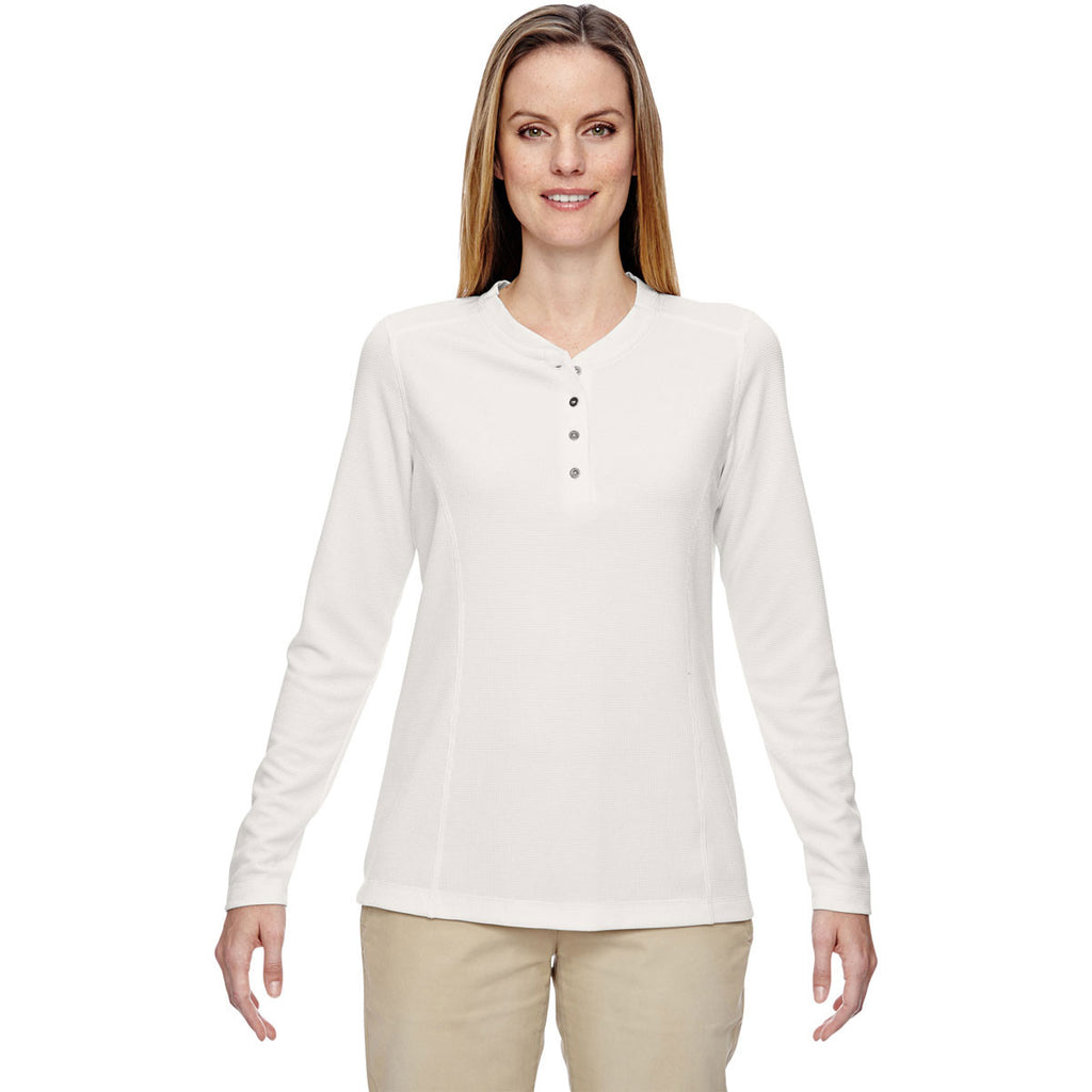 North End Women's Crystal Quartz Excursion Nomad Performance Waffle Henley