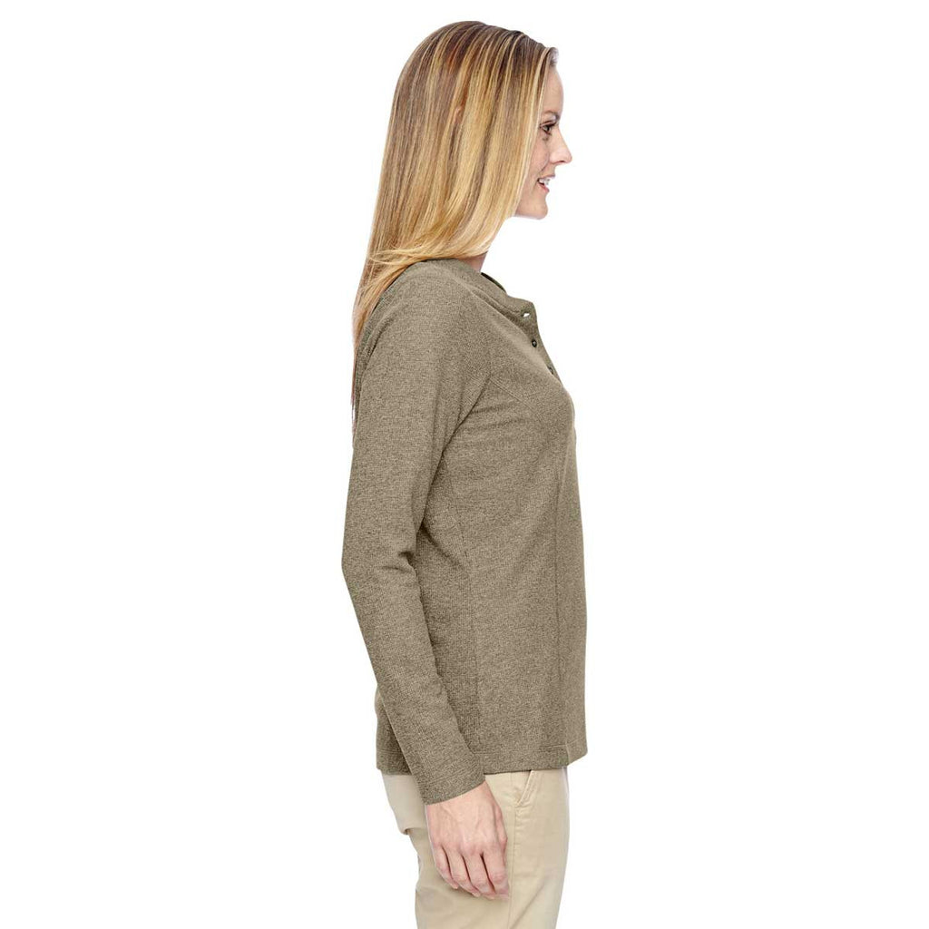 North End Women's Stone Excursion Nomad Performance Waffle Henley