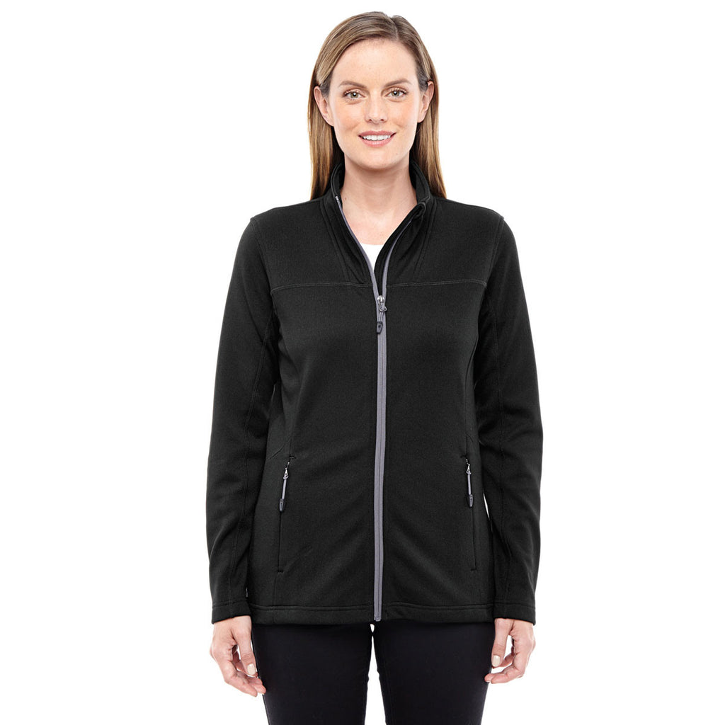 North End Women's Black/Graphite Performance Fleece Jacket