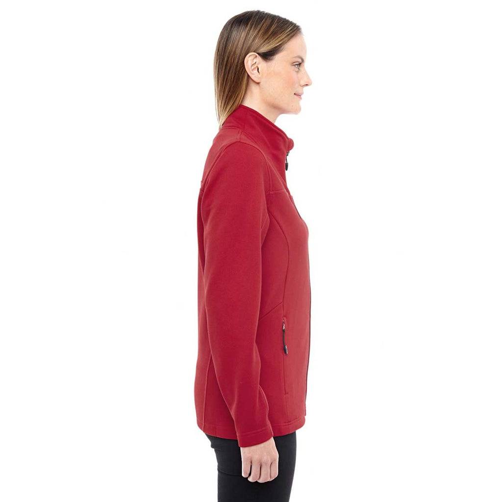 North End Women's Classic Red/Black Performance Fleece Jacket