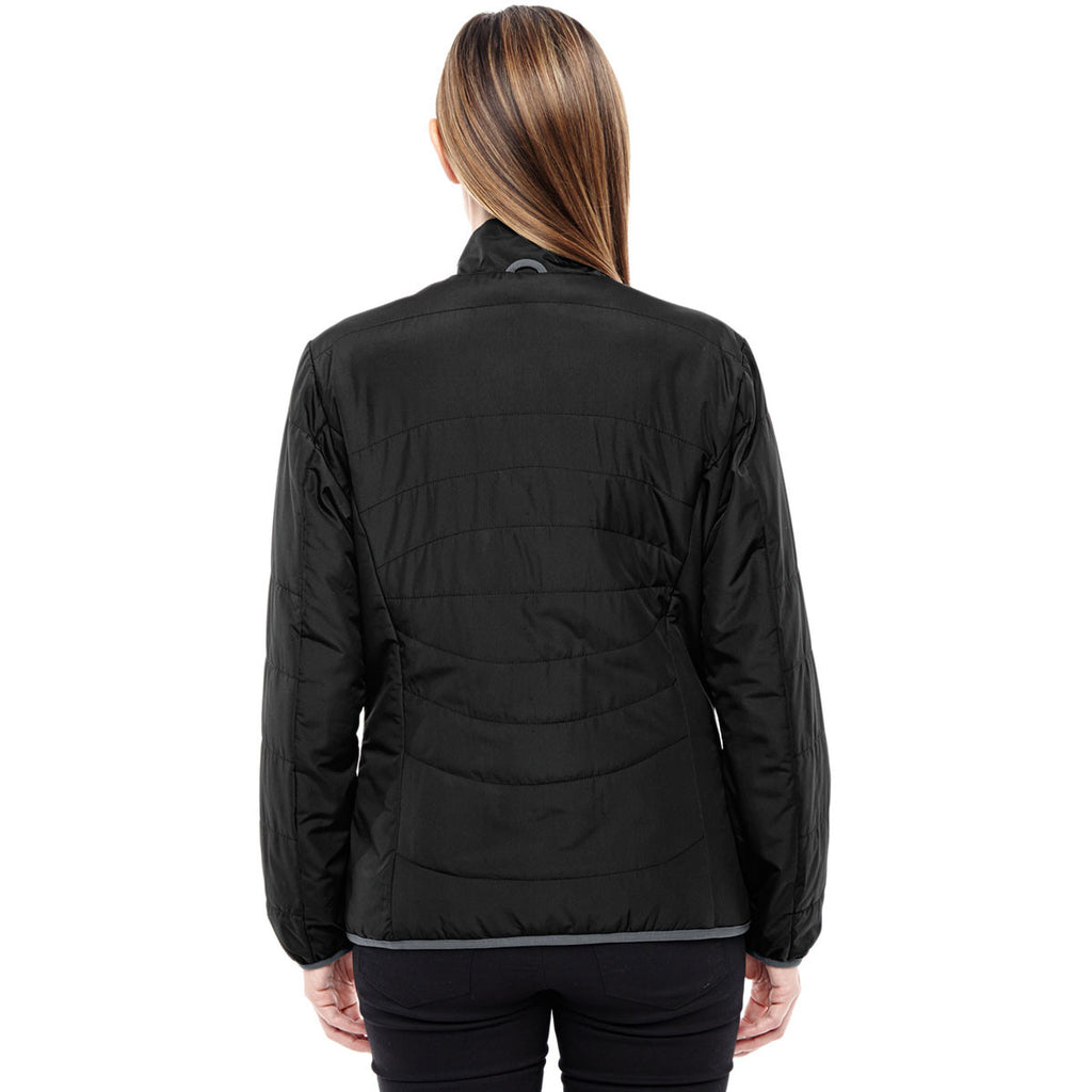 North End Women's Black/Graphite Insulated Packable Jacket