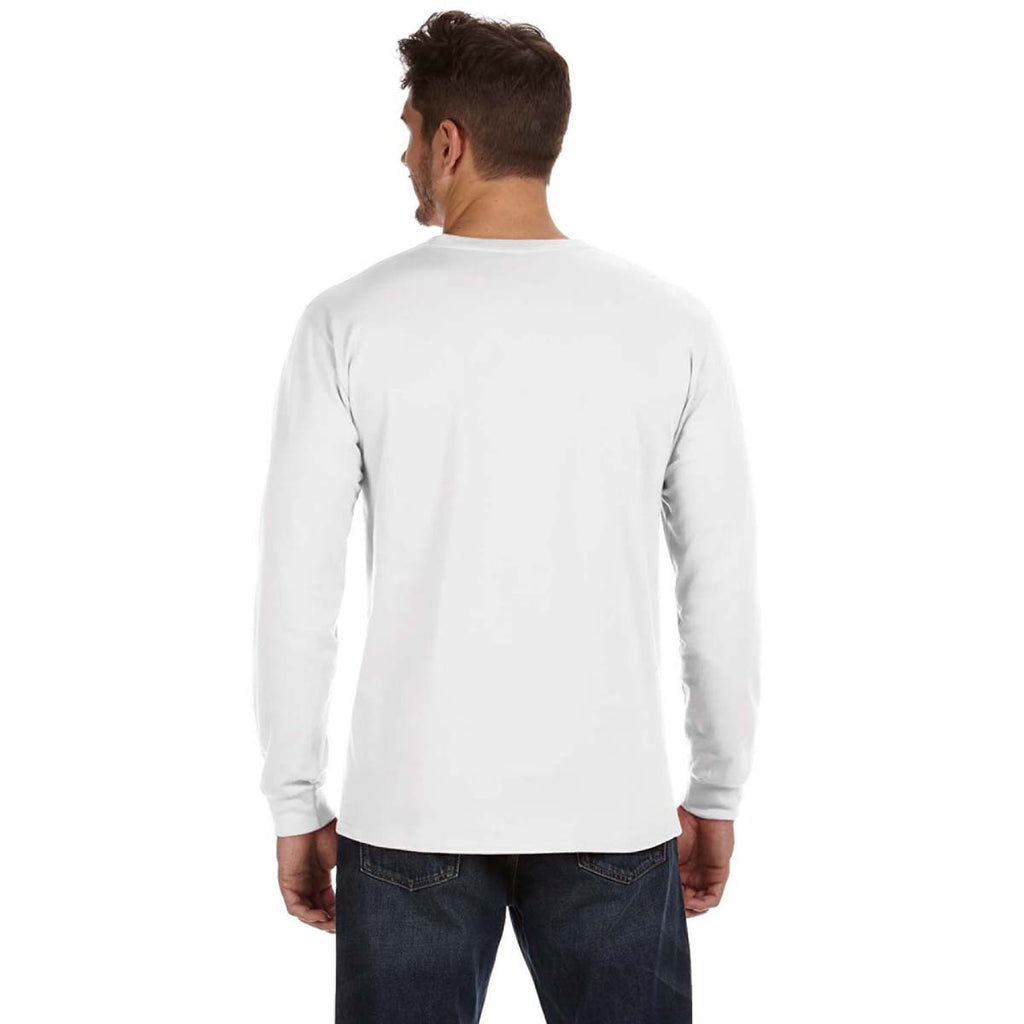 Anvil Men's White Midweight Long-Sleeve T-Shirt