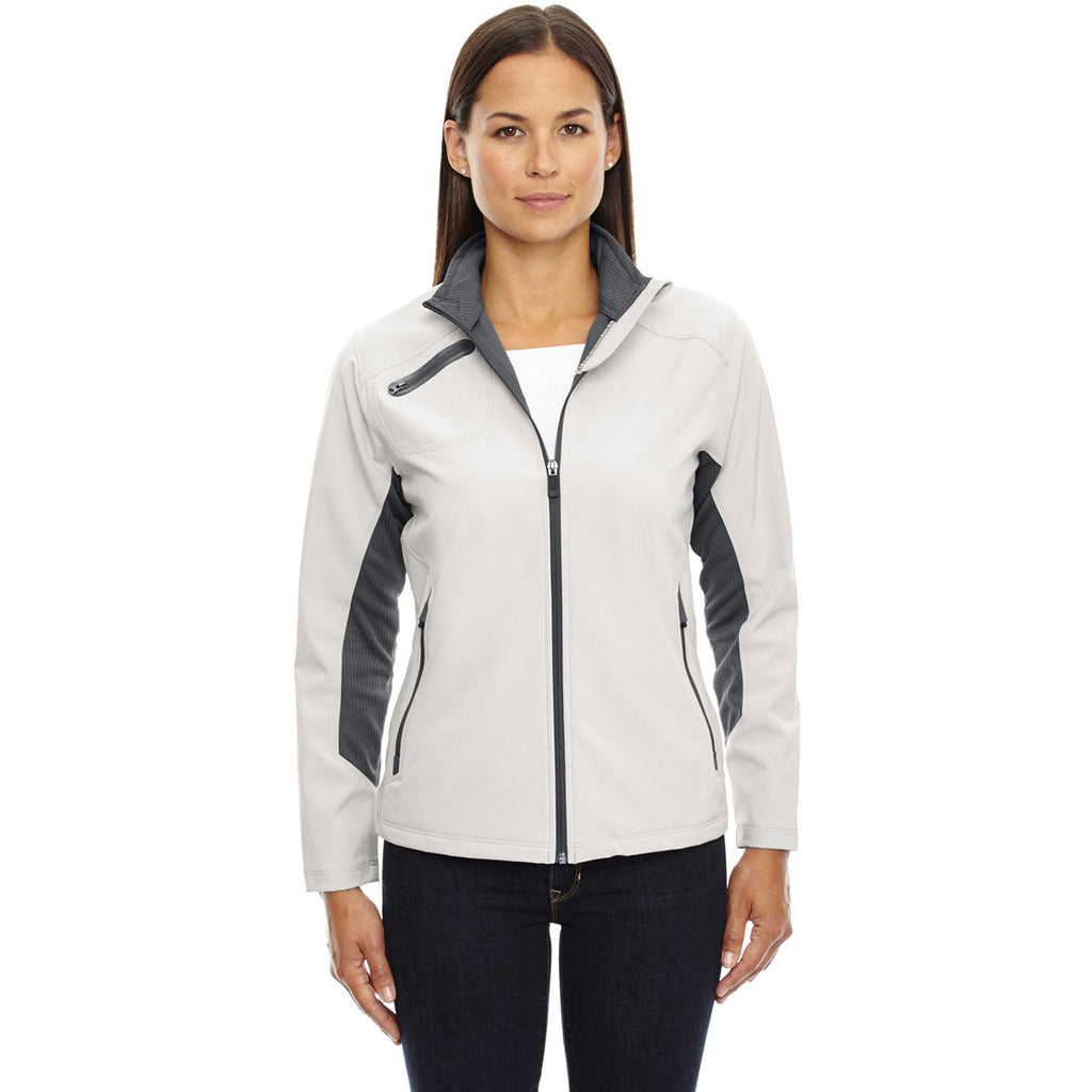 North End Women's Concrete Three-Layer Light Bonded Soft Shell Jacket