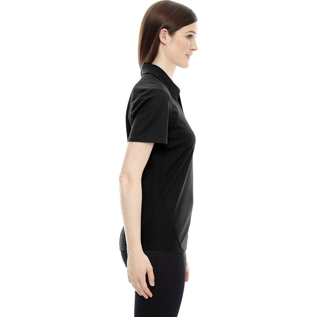 North End Women's Black Performance Pique Polo
