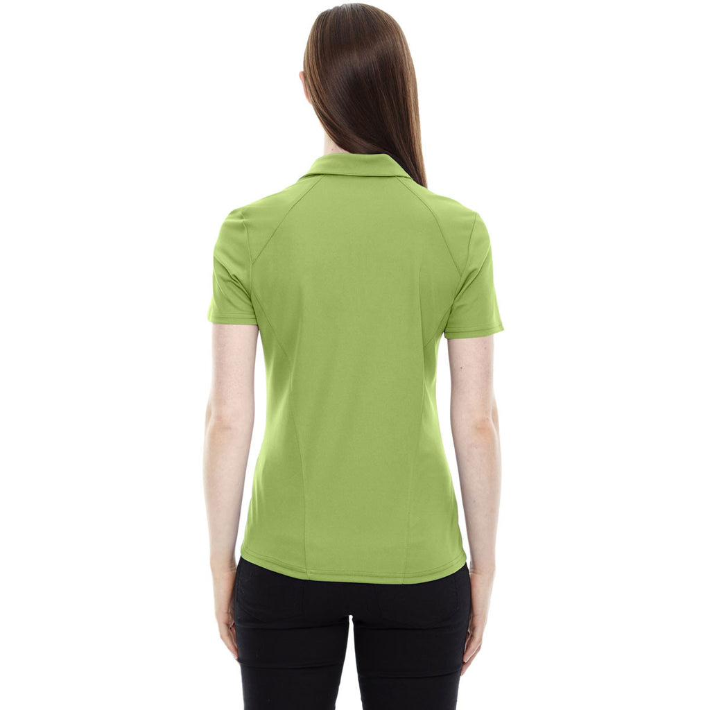 North End Women's Cactus Green Performance Pique Polo