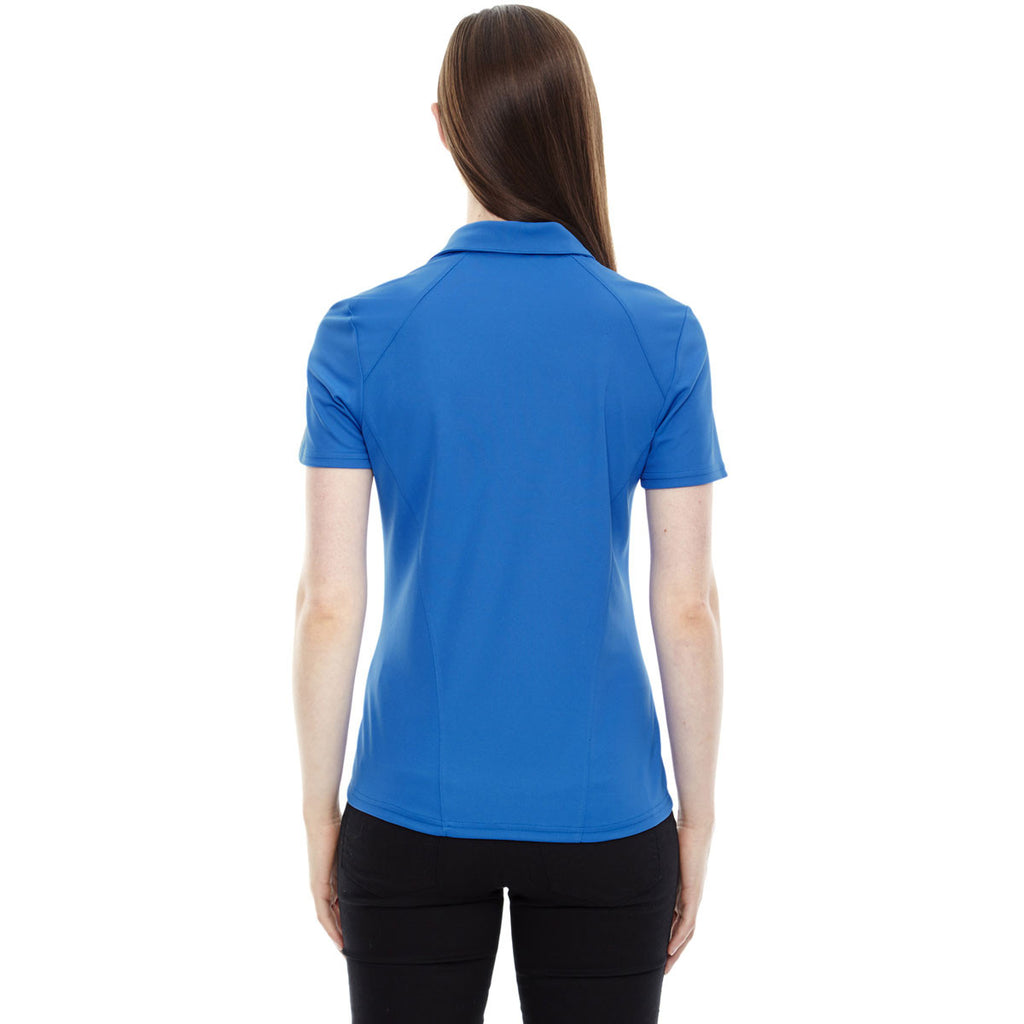North End Women's Light Nautical Blue Performance Pique Polo