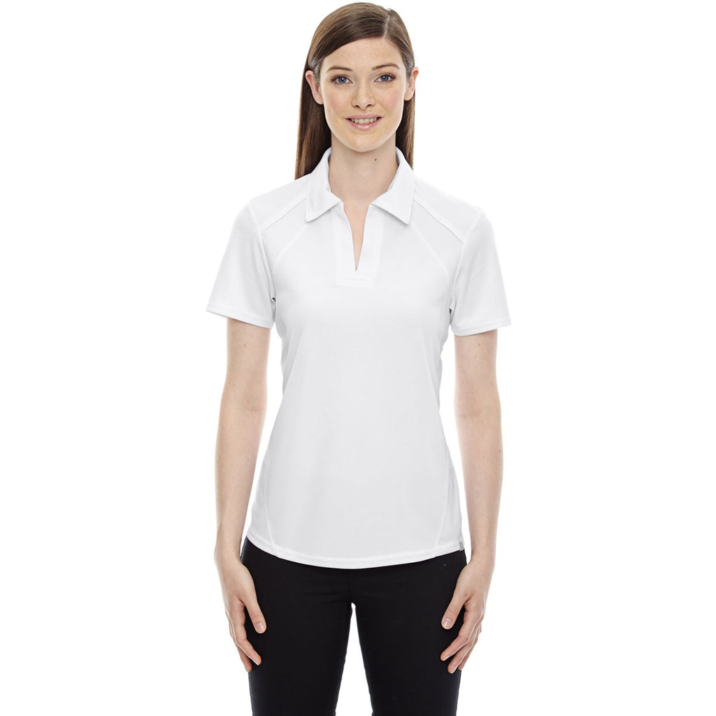 North End Women's White Performance Pique Polo