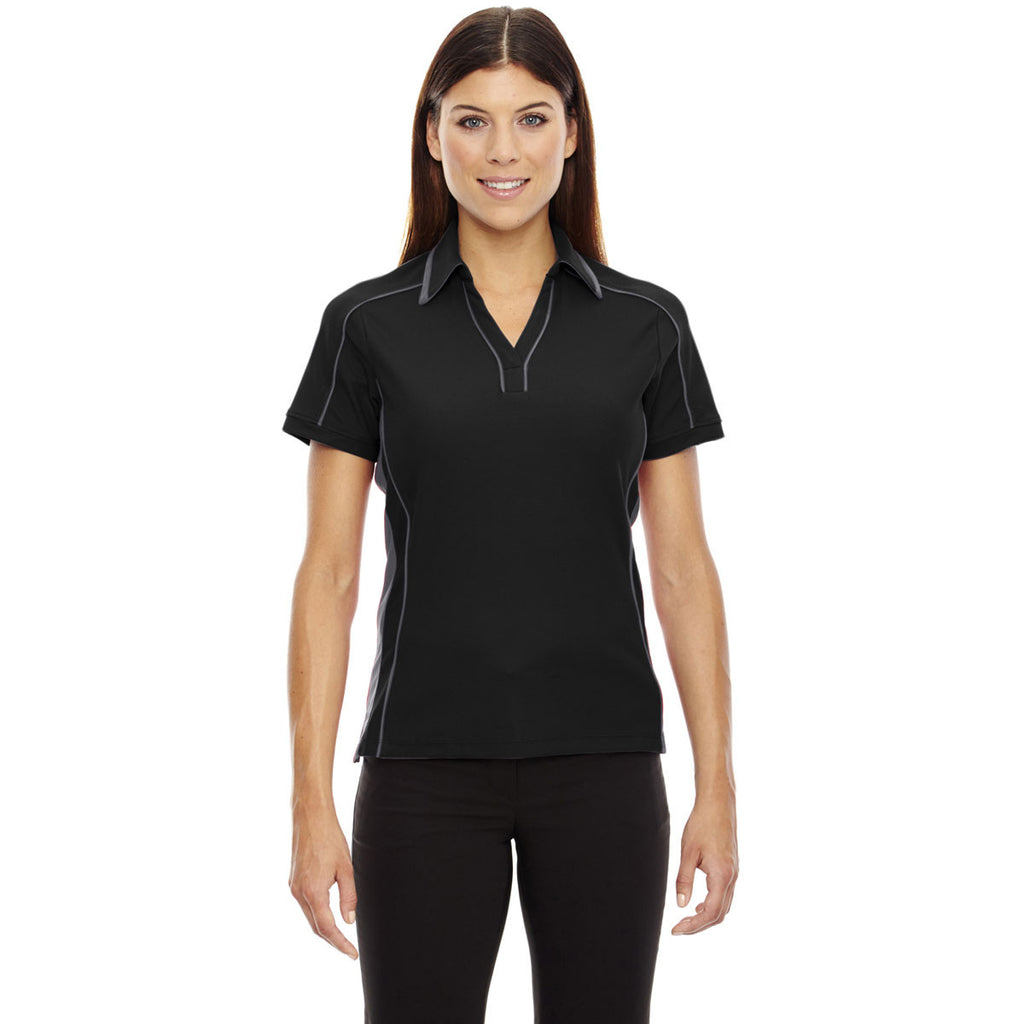 North End Women's Black Sonic Performance Polo