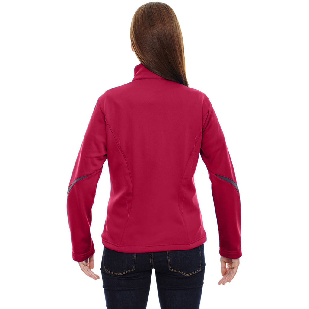 North End Women's Olympic Red Escape Bonded Fleece Jacket