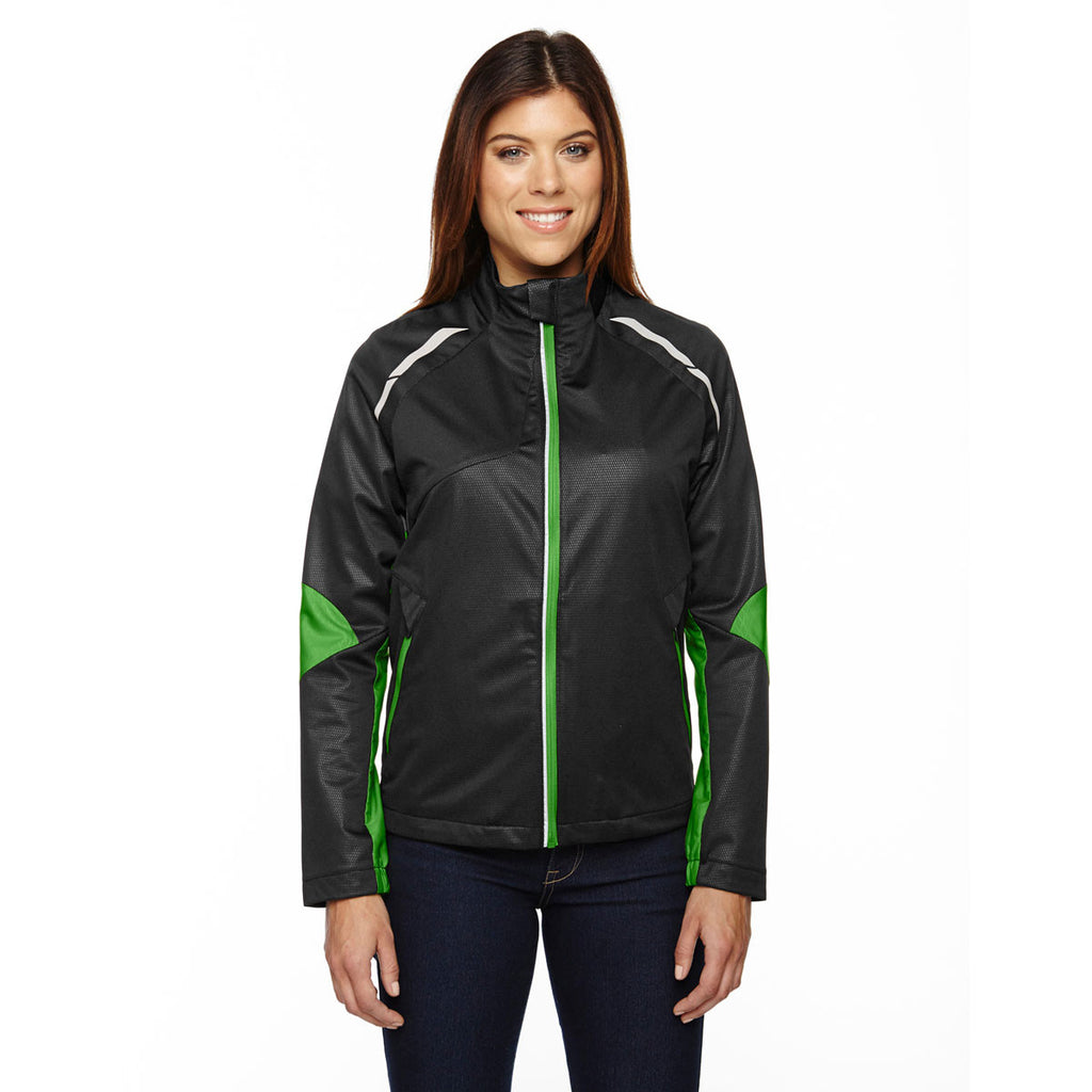 North End Women's Black/Acid Green Dynamo Performance Hybrid Jacket