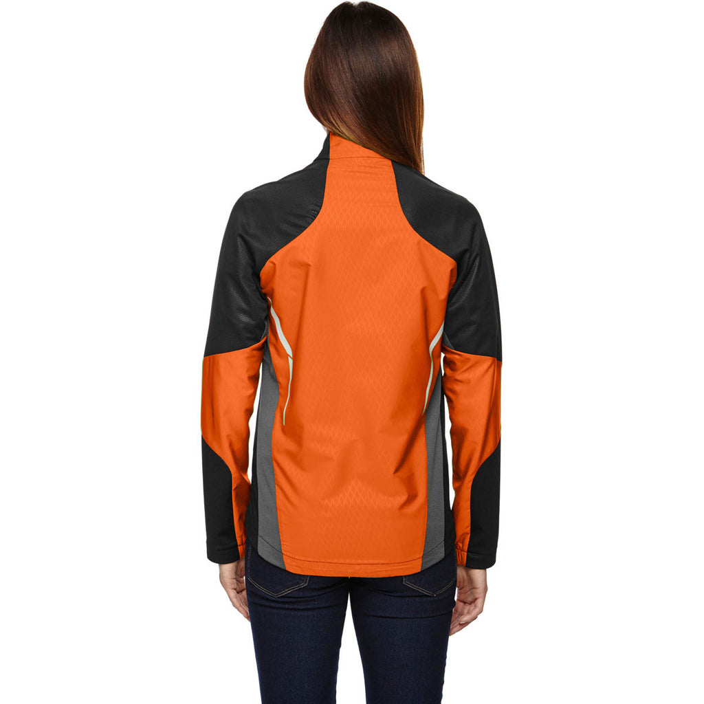 North End Women's Black/Mandarin Orange Dynamo Performance Hybrid Jacket