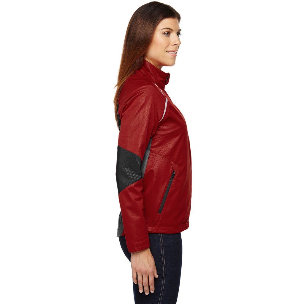 North End Women's Olympic Red Dynamo Performance Hybrid Jacket
