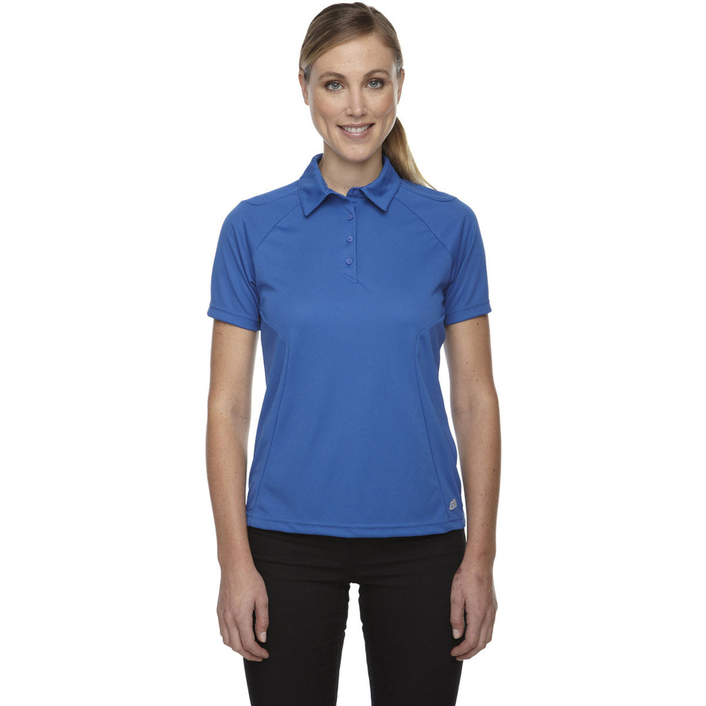 North End Women's Nautical Blue Dolomite UTK Performance Polo