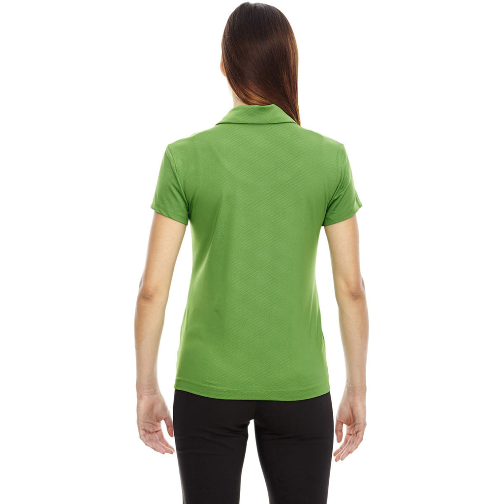 North End Women's Valley Green Stretch Embossed Print Polo