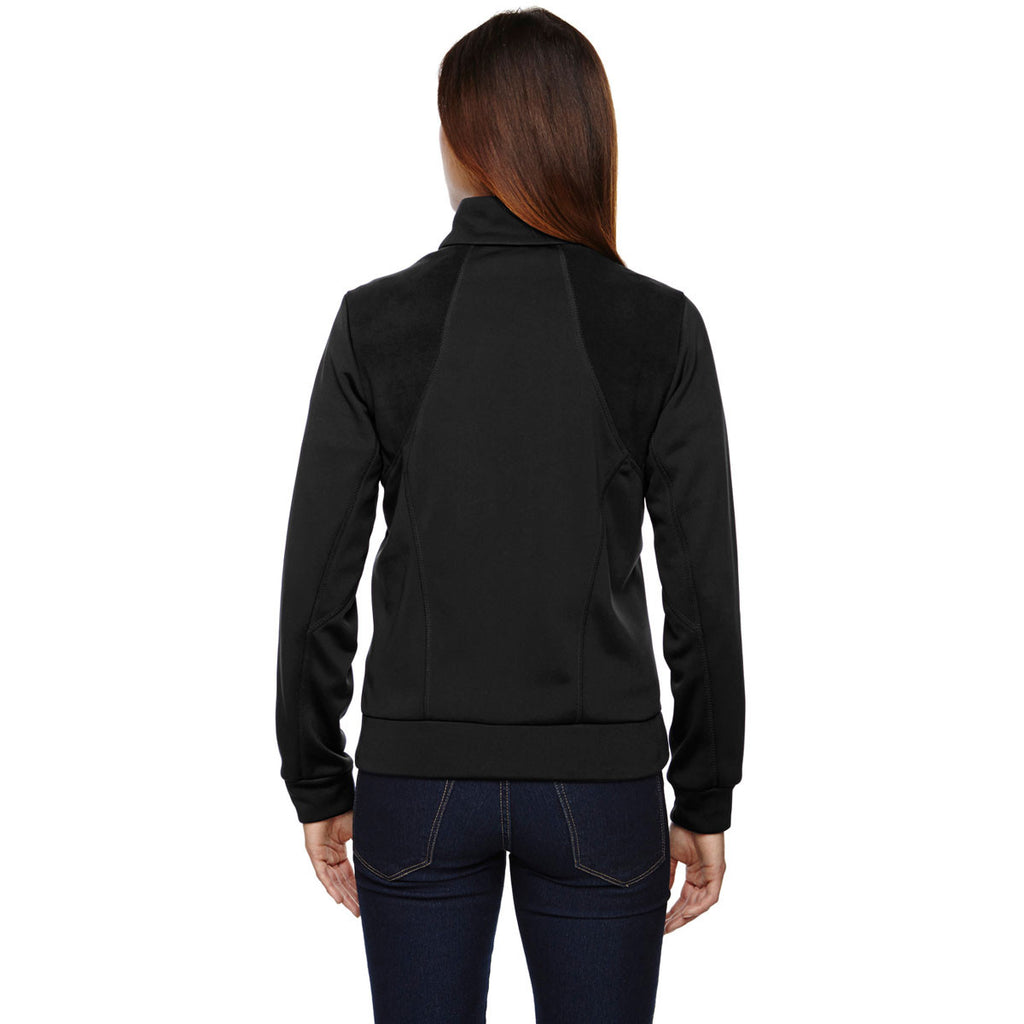 North End Women's Black Evoke Bonded Fleece Jacket