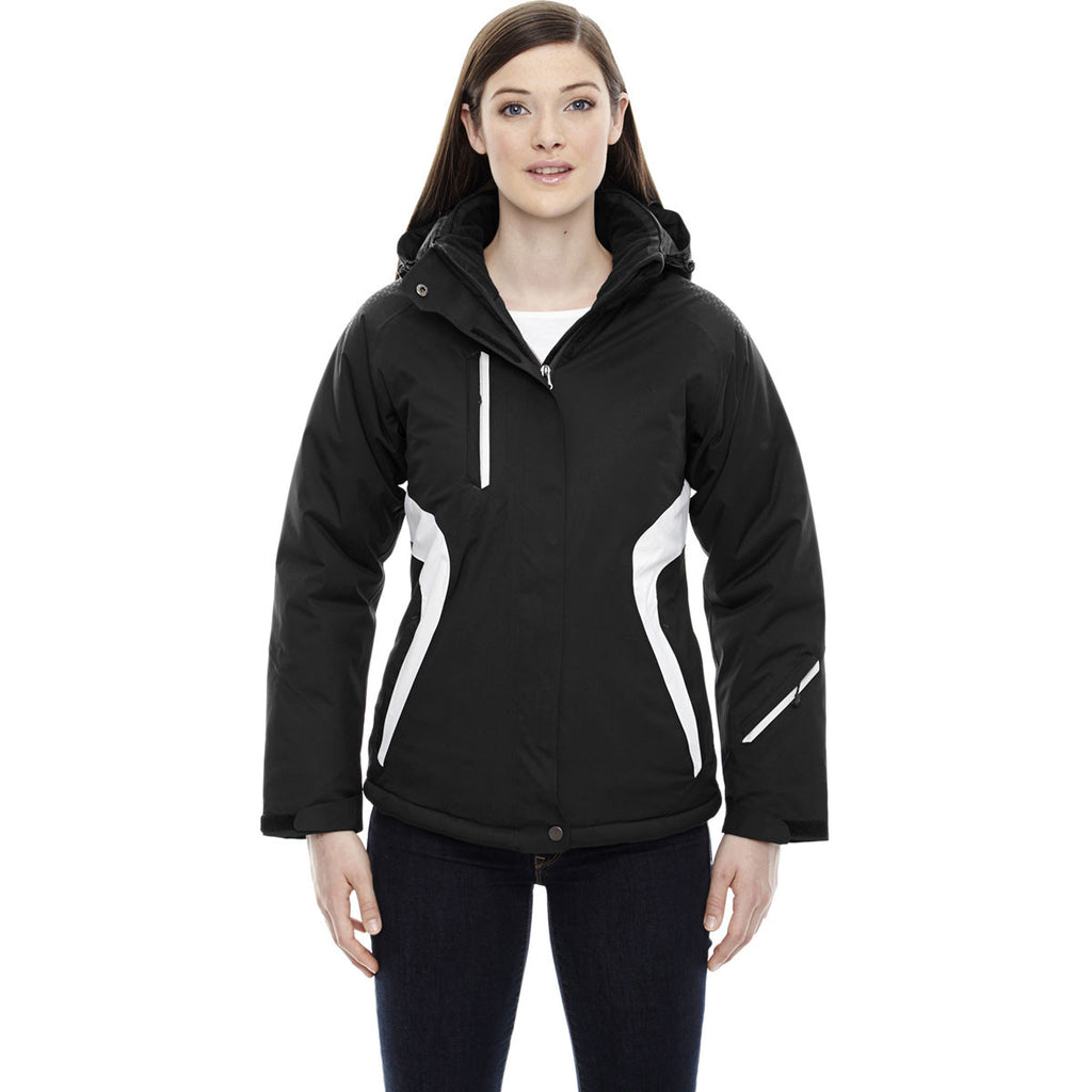 North End Women's Black Apex Seam-Sealed Insulated Jacket