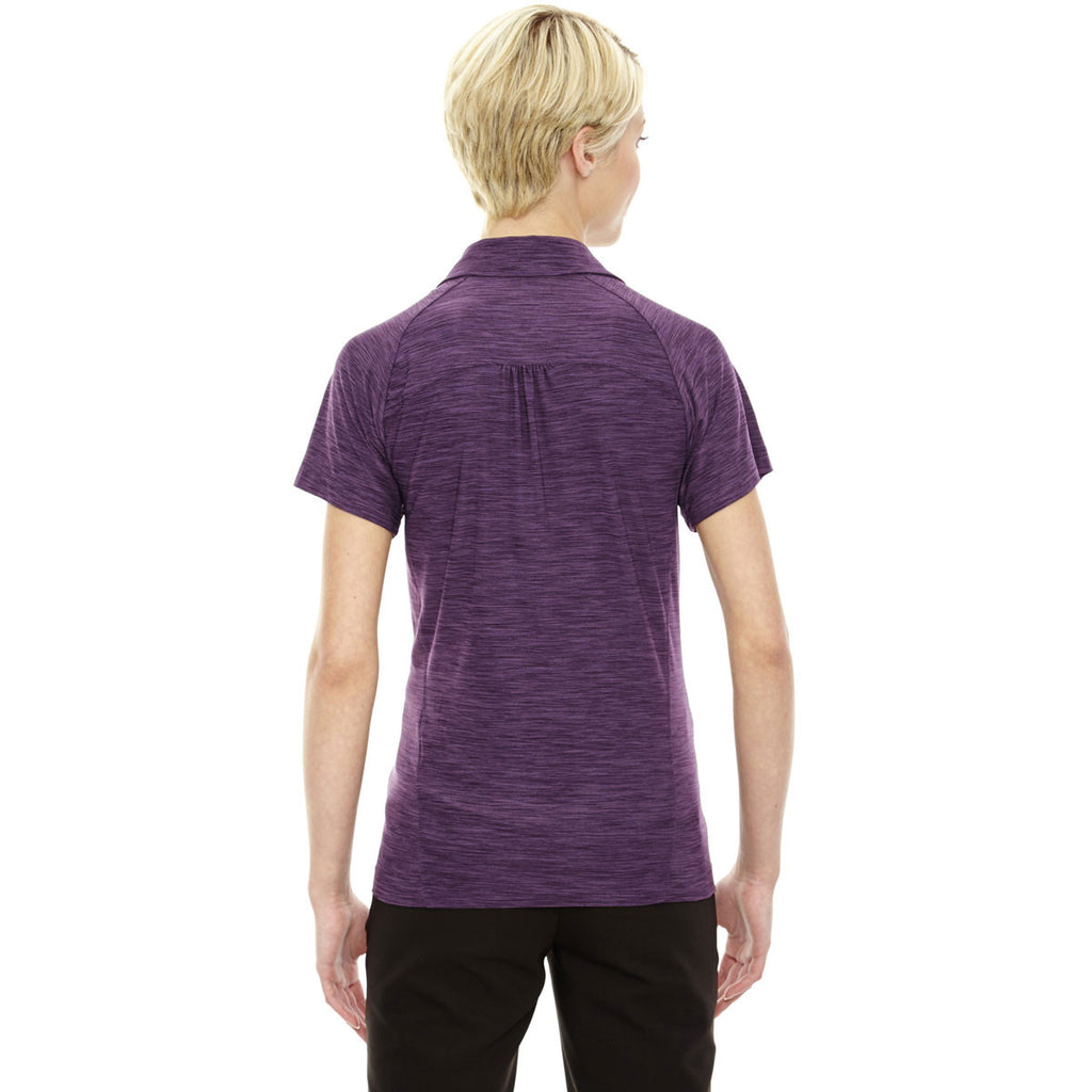 North End Women's Mulberry Purple Performance Stretch Polo