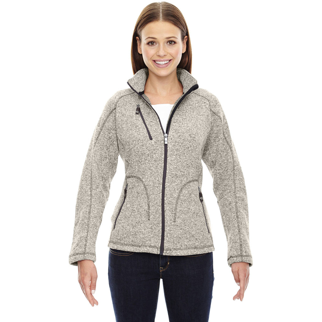 North End Women's Light Heather Peak Jacket