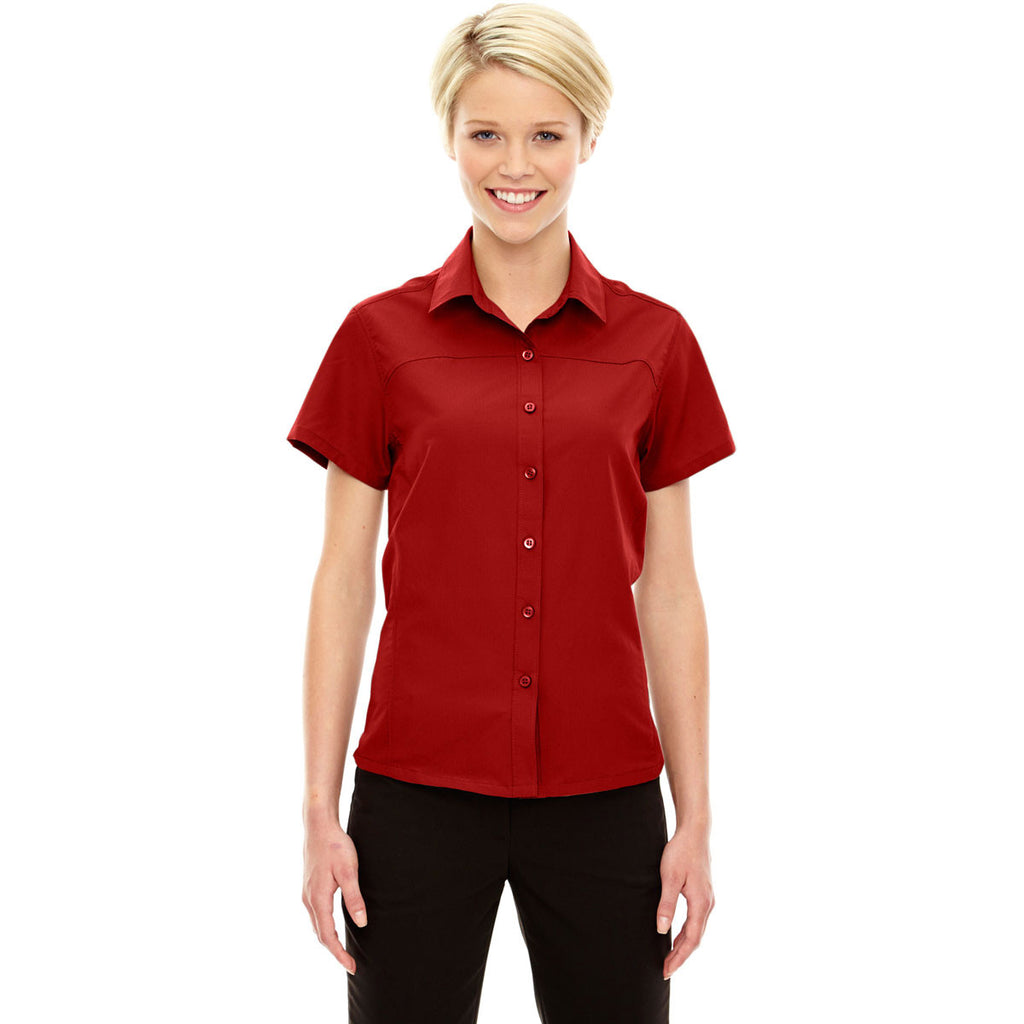 North End Women's Classic Red Charge Performance Short-Sleeve Shirt