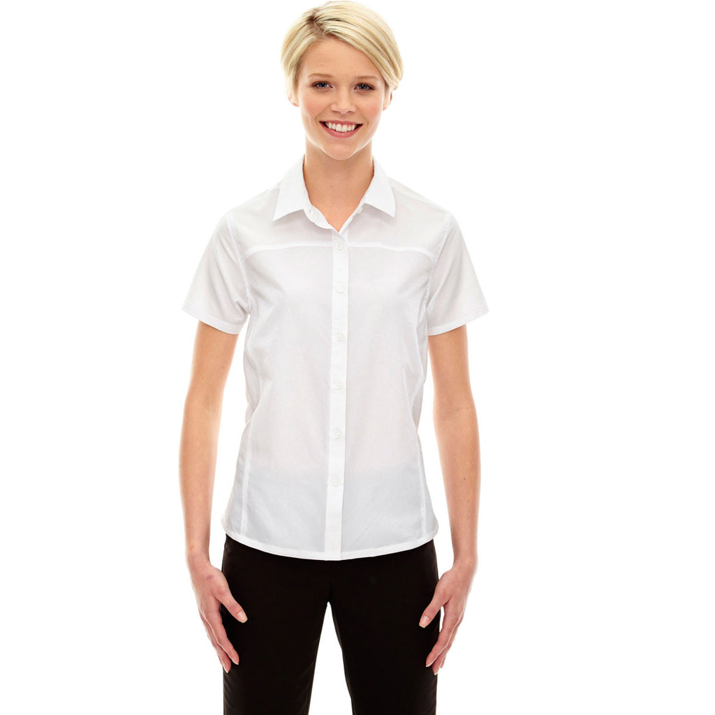 North End Women's White Charge Performance Short-Sleeve Shirt